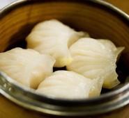 har gau - steamed shrimp dumplings