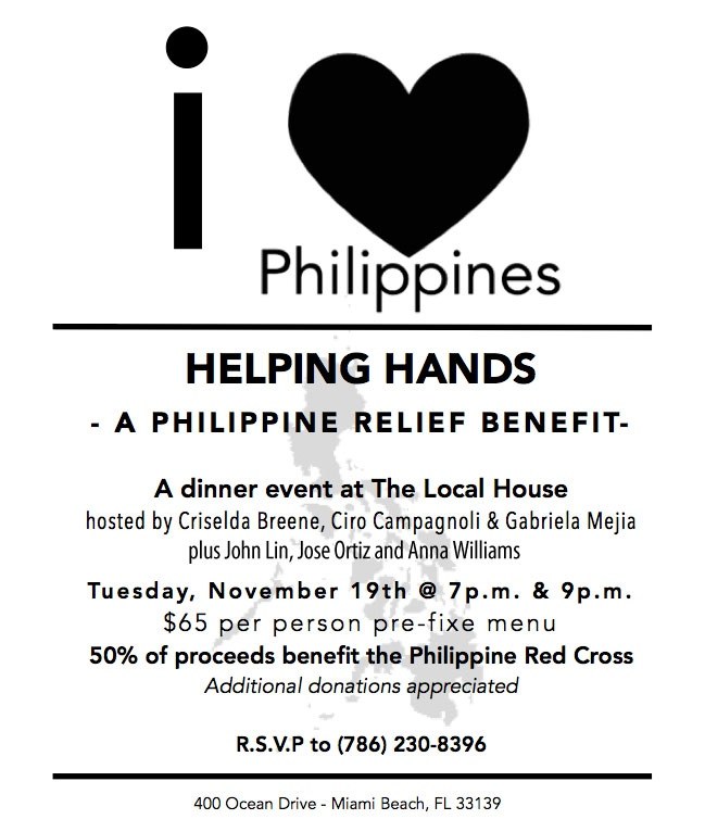 I ♥ PHILIPPINES BENEFIT DINNER…is here