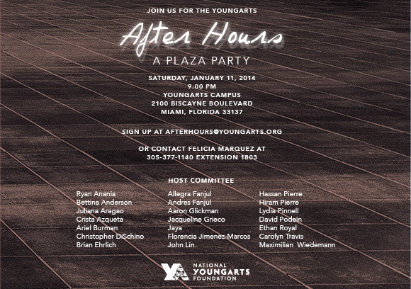 2014 YoungArts AfterHours Invite 1