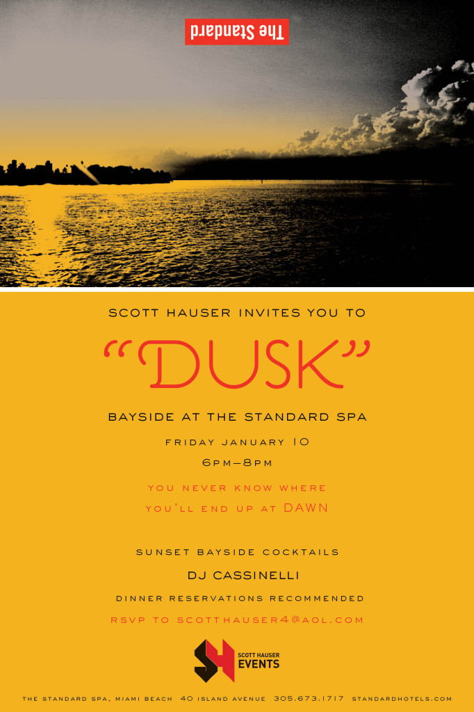 Dusk Party Bayside at the Standard Spa