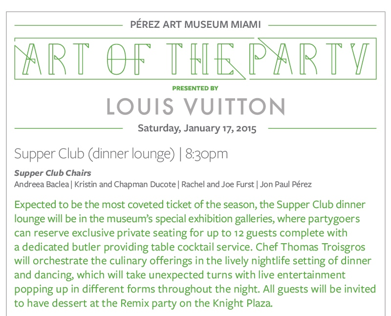 "PAMM's ""Art of the Party"" Supper Club…is here"
